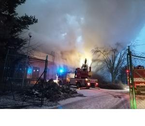 Požár bývalého kulturního střediska ve Vyškově
